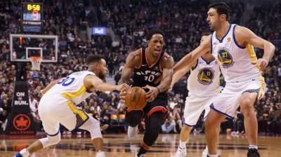 НБА: «Голден Стейт» справился с «Торонто», победы «Сан-Антонио» и «Оклахомы»